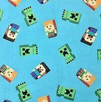 """Minecraft Fabric 1/4 Yard-9""""H x 42""""W-100% Cotton-Quilting/Masks"""