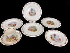 Royal Doulton England Bunnykins Childrens Dishes Lot Cup Saucer Plates Dishes