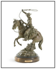 Curt Mattson Western Bronze Sculpture Full Round Signed CowboyThe Hoolihan Man