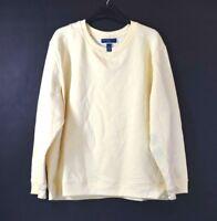 Karen Scott Sport Women's XXL Long Sleeve Crew Neck Sweater Yellow