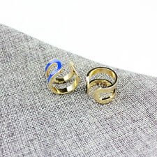 Fashion Brand Hot Sale Pave  Letter Logo Open Ring
