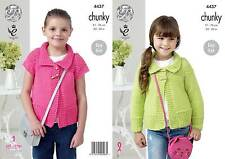 Kingcole 4437 Childs Chunky Knitting Pattern 24-30 In-pas les vêtements finis