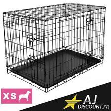 Caisse de transport - Taille XS - 60x47x49 cm - Cage métallique pour chien chat