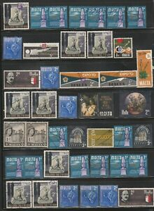 Malta Fine selection of fiscally cancelled stamps Fine Used
