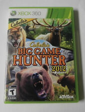 Cabela's Big Game Hunter 2012 (Microsoft Xbox 360, 2011)   COMPLETE  FAST SHIP