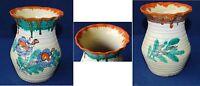 Dekorative Keramikvase mit Laufglasur Bauhaus-Zeit gemarkt 14 cm hoch