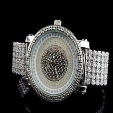 Genuine Diamond Mens Iced Joe Rodeo Jojo Jojino White Gold Finish Custom Watch