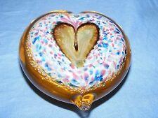 Caithness VETRO fermacarte Cadenza cuore regalo bellissimo regalo di compleanno matrimonio NUOVO