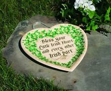 NEW IRISH BLESSING  HEART  STONEWARE PLATE PLAQUE WITH SHAMROCKS