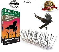 Bird Pigeon 300 Spikes Stainless Steel Repellent Pest Cats 5X50cm Deterrent Kit