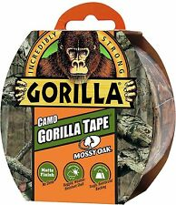8m x 48mm Gorilla Camo Tape - Tough Reinforced, Weather Resistant Matte Finish