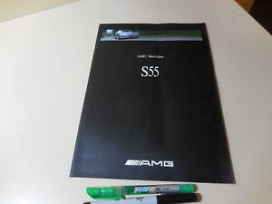 AMG Mercedes-Benz S55 Japanese Brochure 2000/04 W220