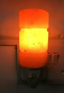 Himalayan Salt Wall Lamp Plug In Night Light Air Purifier Switchable Cylinder