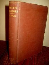 1st Edition GHETTO TRAGEDIES Israel Zangwill FIRST PRINTING Jewish Zionism 1899