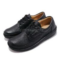 Clarks Nature II Black Leather Men Casual Lace Up Lifestyle  Derby Shoes