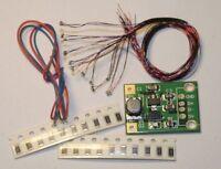 Bausatz 16 smd LEDs am Draht incl. Konverter zum Betrieb am 2,4V Akku, Modellbau