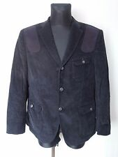 BARBOUR Dark Blue Corduroy Velvet Men's Jacket Size 44R