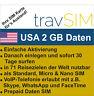 Prepaid 3UK Daten SIM Karte 3G für die USA 2 GB für 30 Tage Standard Micro Nano