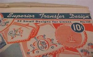 Superior Transfer Design(52 Small Designs for linens)Original Envelope  #12052C