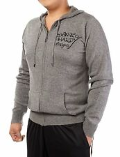 Ed Hardy Men's Hooded Sweater,  Siz  Large  AND   X-Large  50% Cotton, 50%  wool