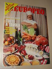 EUROPEO=1979/3=TUTTI A TAVOLA=ROBERT ALTMAN=ATLANTE SOCIALE D'ITALIA=