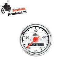 Simson Tachometer S51 S50 S70 80km/h Chrom Tacho weiß Originaldesign 48 mm MMB