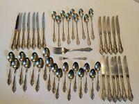 Lot Of 46 Oneida HH Distinction Brahms Stainless Steel Silverware