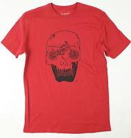 Fox Mens Growler Pemium Short Sleeve T-Shirt Cardinal Red L New