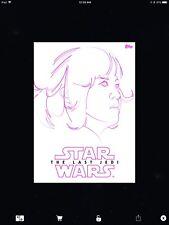 STAR WARS CARD TRADER - THE LAST JEDI - FINE LINE - PINK - ROSE