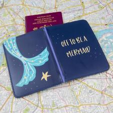 Personalizado Diversión Lindo Cuento de Sirena & Sueño tema pasaporte cubrir titular cartera
