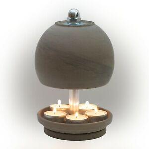 HP-K-B-23/13-5er - Teelichtofen / Teelichtlampe, Neue Kugel Serie - Modell Black