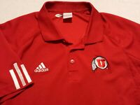 Adidas Climacool Mens Small Short Sleeve Red Utah Utes Athletic Polo Golf Shirt