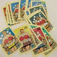 Vintage Nintendo 1989 Trading Cards Punch-Out Lot of 22 Assorted Boxer Card