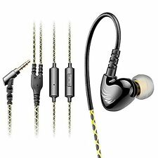Durable Earbuds with Microphone and Case - Deep Bass Noise Cancelling Stereo -