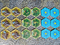 Catan Explorers and Pirates Expansion 18 Special Replacement Terrain Hexes Tiles