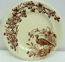 Ancienne belle assiette JS & Cie gibier thème chasse XIX : le faisan
