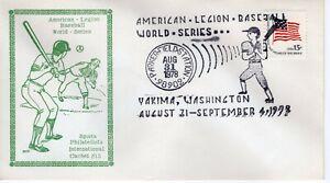 AMERICAN LEGION BASEBALL WORLD SERIES CANCEL,  YAKIMA, WA 1978   FDC10591