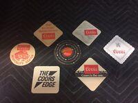 """7 Vintage 1980s """"Coors Beer"""" Paper Coasters . New Vintage Coors~Man Cave~"""
