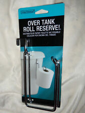 INTERDESIGN Over The Toilet Tank Roll Reserve Hanging Metal Tissue Roll Storage