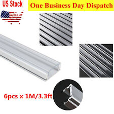 6pcs 3.3ft DIY Aluminum Channel Holder w/ Clear Cover& Mount For LED Light Strip