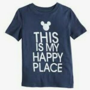 "NWT DISNEY MICKEY MOUSE ""THIS IS MY HAPPY PLACE"" YOUTH BOYS SZ 6, M(8/10)"