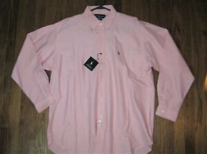 Men's Large Ralph Lauren Blake Button-Down PINK Oxford L/S Shirt *New With Tags*