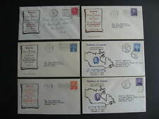 Canada unknown cachet 6 Prime Ministers FDC first day covers