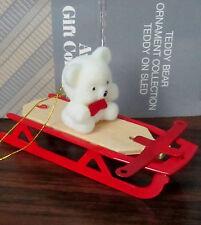 Teddy Bear Sled Christmas Ornament  Avon Collection