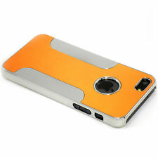 New Orange Aluminum and Plastic Hybrid Hard Case For iPhone 5 5S SE