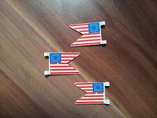 3 x amerikanische Flagge