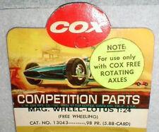Vintage 1960's LOTUS Free Wheeling Front Wheels 1 Pair COX Originial #13043 1/24