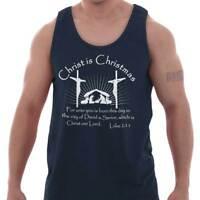 Jesus Christ Christmas Christian Shirt Holiday Religious Gift Tank Top