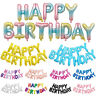 Foil Letter Balloons Set Happy Birthday Banner Balloon Kids Party Birthday Decor