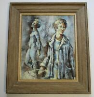 ROBERT AILLAUD AYO PAINTING FRENCH MODERNISM 1960 VINTAGE PARIS EXPRESSIONIST